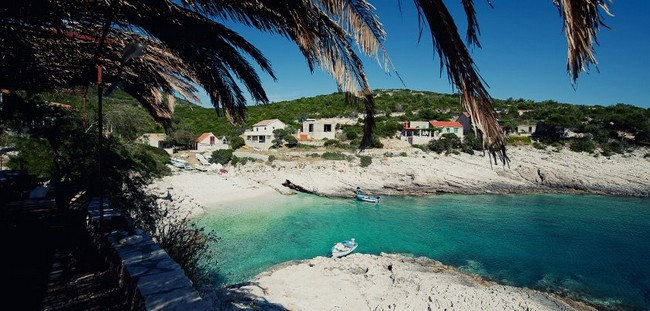 Beaches of the island of Vis