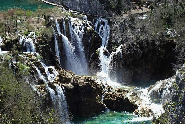 View of the most beautiful lakes in Europe- Plitvice Lakes