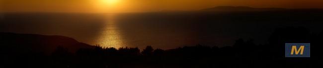 Korcula sunset on Croatian motorcycle tours