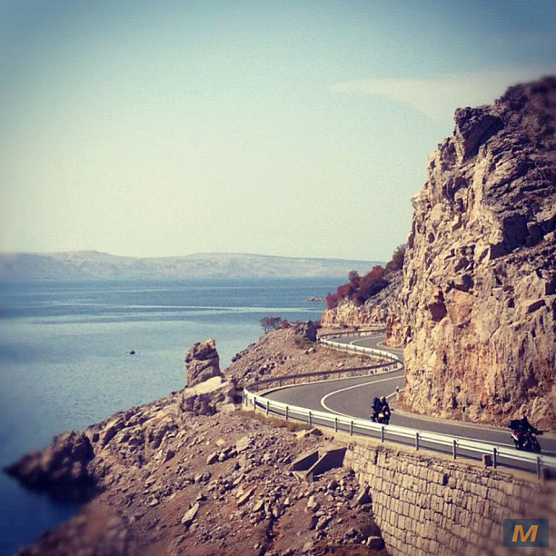 Adriatic-Coastal-Road, one of best Croatian roads for a motorcycle rider