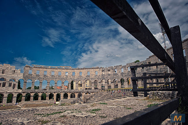 Amphitheatre in Pula, Croatia
