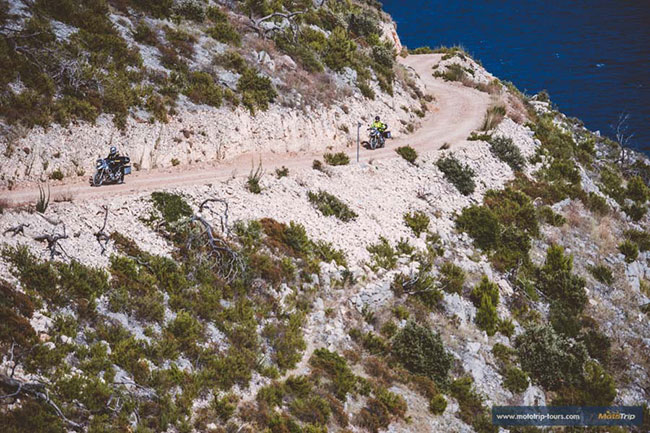 Off road motorcycle tours in Europe- adventure riding along Croatian coast
