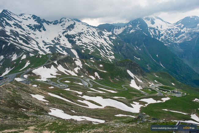 This is how riding the Grossglockner high alpine road looks like