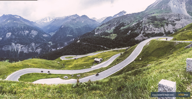Grossglockner high alpine road- view of the curves