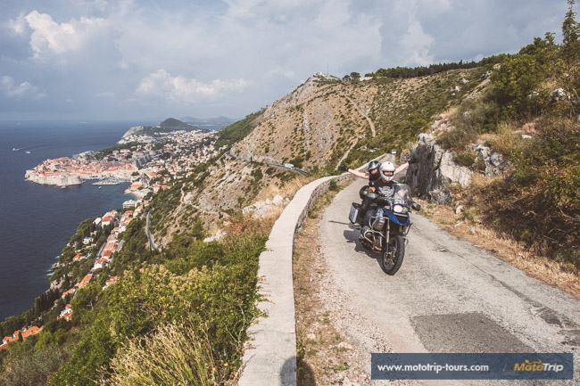 City of Dubrovnik on a motorcycle