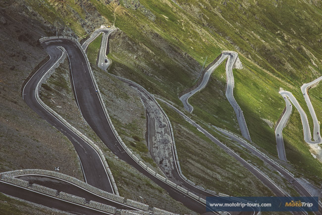 Hairpins of Stelvio pass