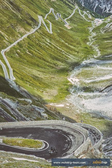 Stelvio pass road in Italy