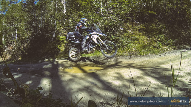 Jumping with a BMW F800GS