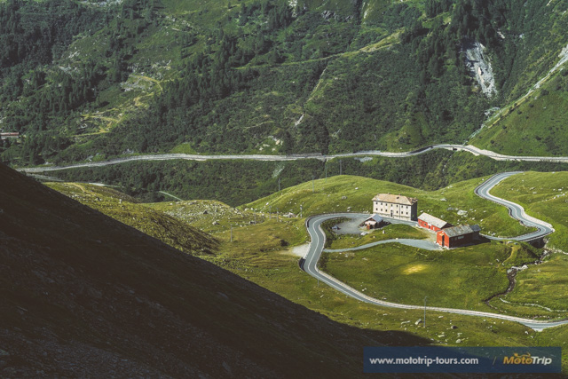 Grand Saint Bernard pass from Italy to Switzerland