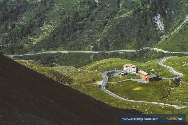 Grand Saint Bernard pass from Italy to Switzerland