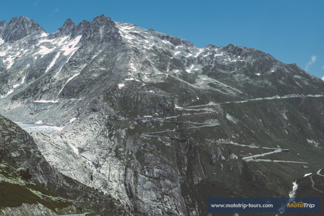 View of the Furka pass in Switzerland