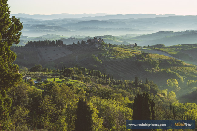 Perfect morning view in Tuscany