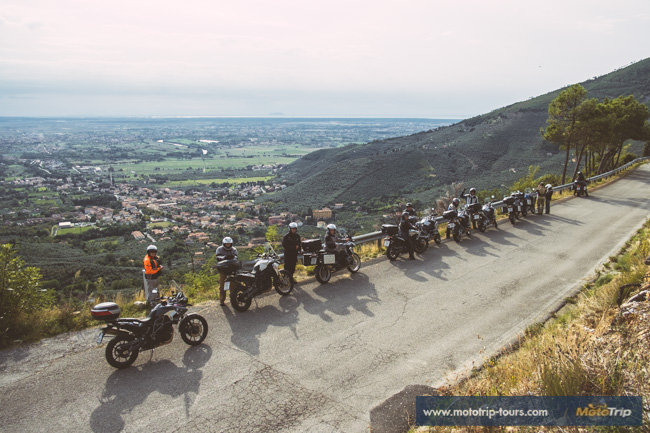 Monte Serra mountain- motorcycle tour in Italy