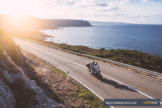 Riding cosastal roads on Sardinia