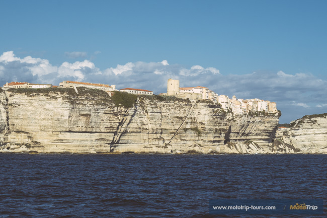 View of Bonifacio from our ferry