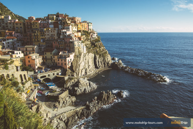 Manarola Cinque Terre on a motorcycle tour in Italy