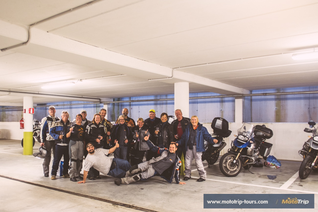 Motorcycle tour in Italy- group photo