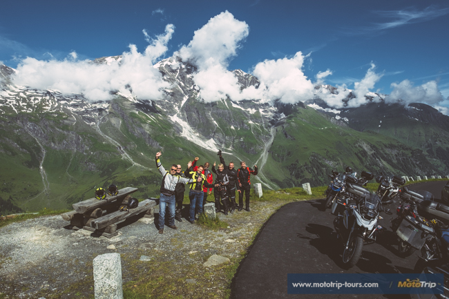 Motorcycle riders in Alps