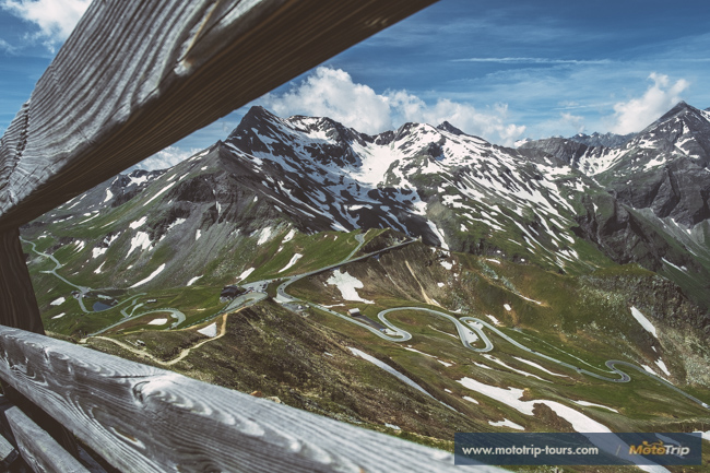 View of Grossglockner high Alpine road