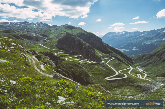 Amazing mountain pass in Switzerland