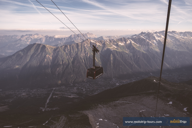 View of Chamonix from gondola