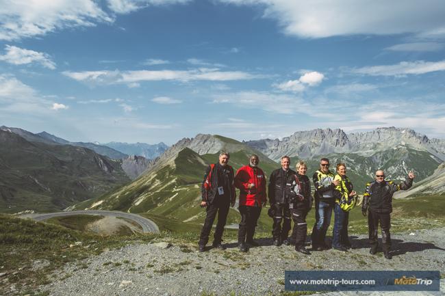Motorcycle tours along Col du Galibier