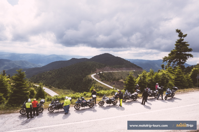 Motorcycle group in Greece