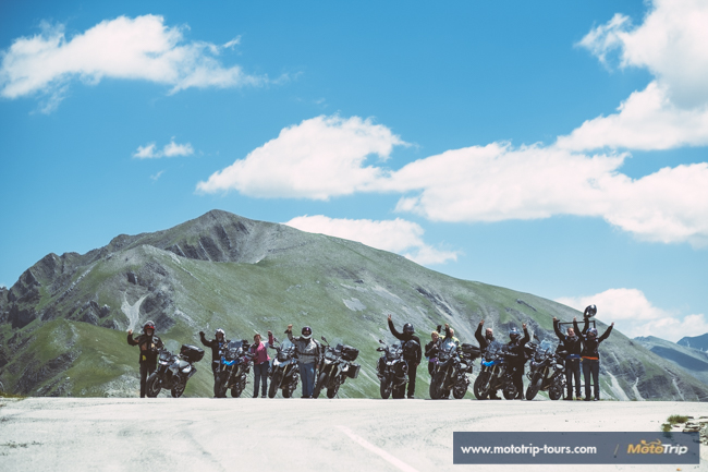 Group of motorcycle riders, Greece to Croatia