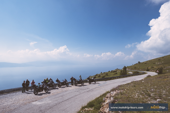 Lake Ohrid, Macedonia on motorcycles