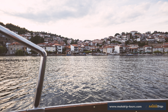Town Ohrid from a boat