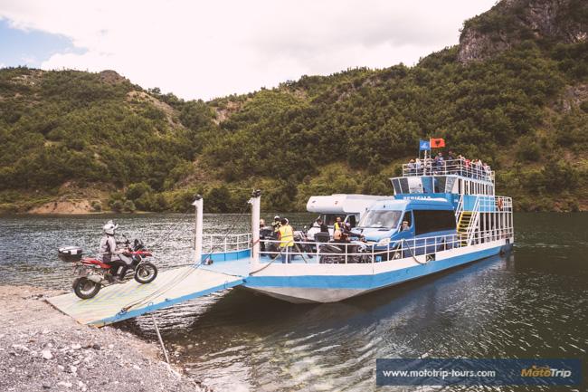 Ferry boat Komani Lake Albania