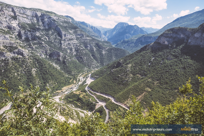 Landscape and roads in Albania