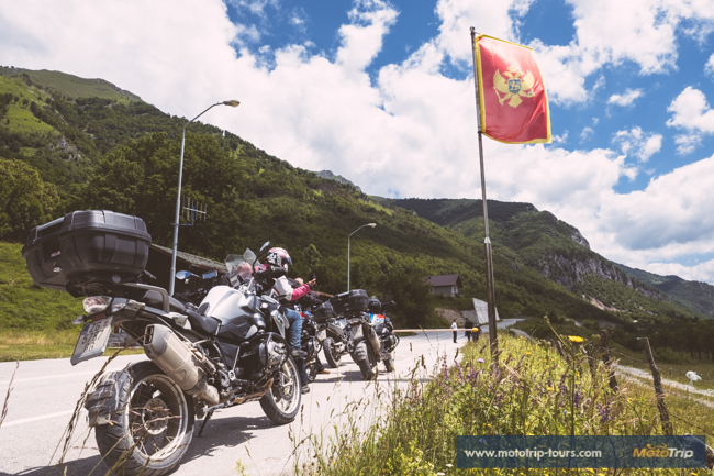 Enter Montenegro on a motorcycle