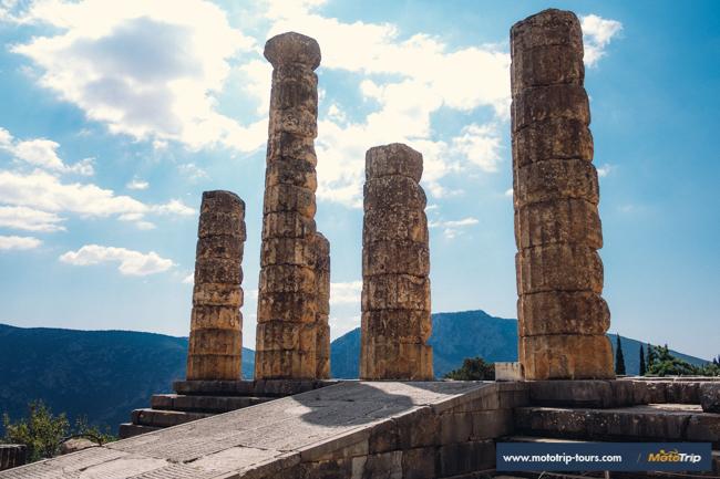 Delphi- Motorcycle roads in Greece