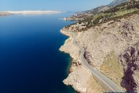 Adriatic coastal road- top of Croatia motorcycle tour