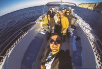 Speedboat ride with our group