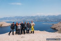 Motorcycle tour reaches Pag, Croatia