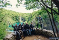 MotoTrip group in Plitvice Lakes, Croatia