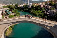 Old bridge, Mostar - MotoTrip from drone