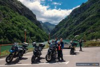 Quick picture stop in scenic Neretva canyon MotoTrip