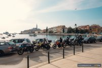 Rovinj arrival on motorcycle tour Balkans