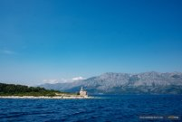 View from a ferry in Croatia